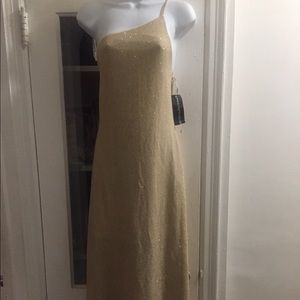 Nightway Collections💥 Gold Maxi dress, size 14